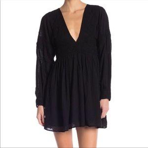 Free people black mini dress medium